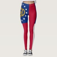 Leggings with flag of Georgia State, USA