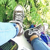 """""""Converse"""" Fashion Canvas Flats Sneakers Sport Shoes High tops Grey"""