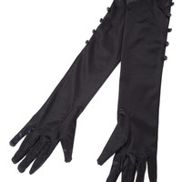 Bettie Page Satin Gloves