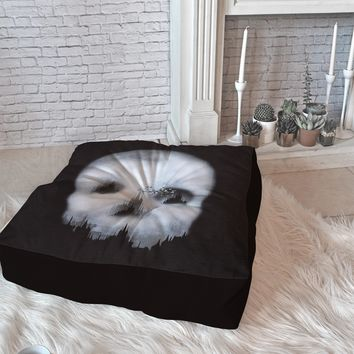 Viviana Gonzalez Dark City Floor Pillow Square | Deny Designs