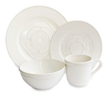 American Atelier Gabrielle 16-Piece Dinnerware Set in White