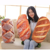 Funny Bread Pattern Pillow Soft Massage Neck Back Pillow PP Cotton Filler Health Care Pillow Comfortable Back Cushion