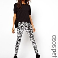ASOS PETITE Exclusive Legging In Mono Print at asos.com