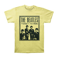Beatles Men's  Ticket To Ride T-shirt Yellow