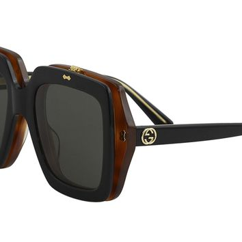 Sunglasses Gucci GG 0088 S- 002 BLACK / GREY
