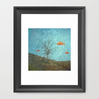 Do Fishes Dream? Framed Art Print by ARTsKRATCHES