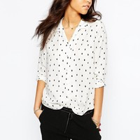 Maison Scotch | Maison Scotch Shirt In Dot Print at ASOS