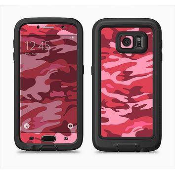 The Pink and Red Tradtional Camouflage Full Body Samsung Galaxy S6 LifeProof Fre Case Skin Kit