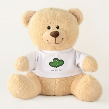 Dark Green Hearts Teddy Bear
