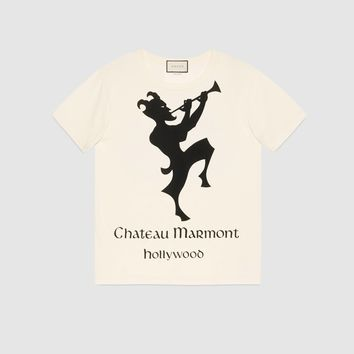 GUCCI T-shirt with Chateau Marmont print