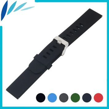 Silicone Rubber Watch Band 20mm 22mm for Luminox Stainless Steel Pin Clasp Watchband Strap Quick Release Loop Belt Bracelet