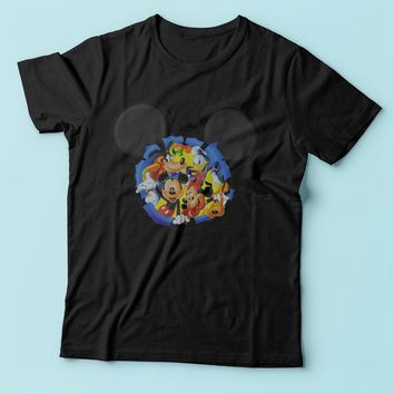 Disney Silhouettes Mickey Mouse And Frieds Men'S T Shirt