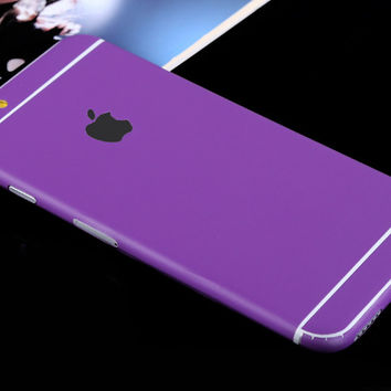 Purple Decal Wrap Skin Set iPhone 6s 6 / iPhone 6s 6 Plus