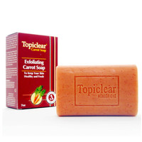 Topiclear Carrot Treament Soap with Carrot Extract & Vitamin E & A 7 oz
