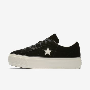 Converse One Star Velvet Platform Low Top Women's Shoe. Nike.com