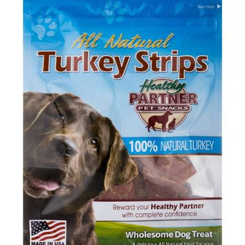 Turkey Strips Bag - Treats for Dogs - 3 oz (85 Grams)