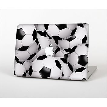 "The Soccer Ball Overlay Skin Set for the Apple MacBook Pro 15"" with Retina Display"