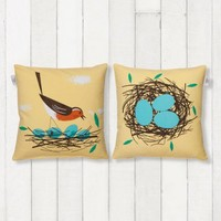 Birdy cushion – robin