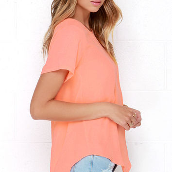 Road to You Neon Coral Top