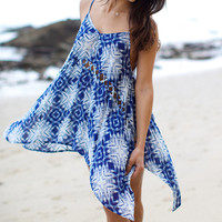 The Girl and The Water - Billabong - Getaway Mini Dress / Indigo - $49.50
