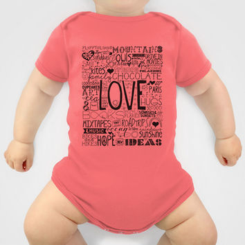 50 Reasons To Be Happy Baby Clothes by The Love Shop