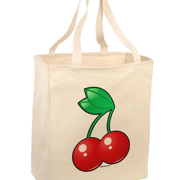Cherries Large Grocery Tote Bag