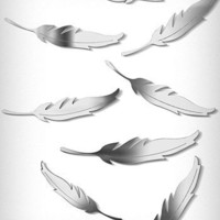 Falling Feathers Mirrored Wall Art | PLASTICLAND