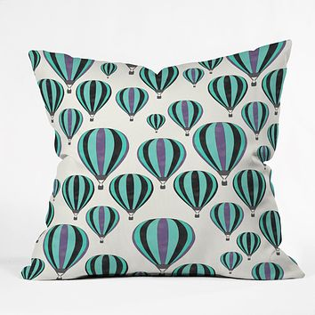 Allyson Johnson Hot Air Balloon Ride Throw Pillow