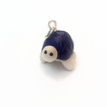 Charm ~ Turtle with Purple Shell Charm ~ Polymer Clay Charm ~ Necklace Charm ~ Bracelet Charm ~ Animal Art ~ Made to Order