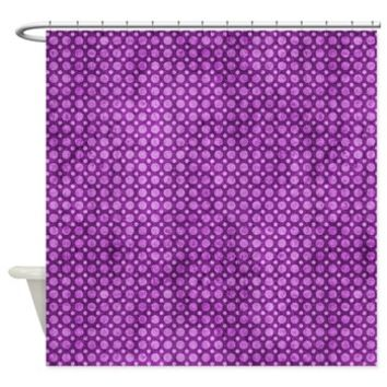 Contemporary Purple Circles Pattern Shower Curtain> Contemporary Purple Circles Pattern> Buy Gifts