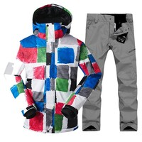 Gsou snow ski suit male suit winter single  double board  windproof  warm waterproof and waterproofing skiing clothes