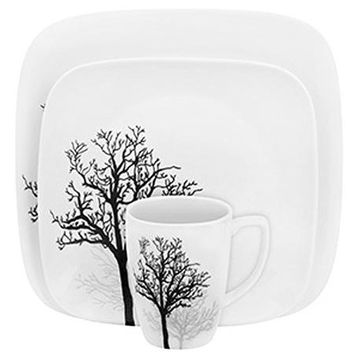 Corelle 16-Piece Squares Timber Shadows Dinnerware Set - Walmart.com