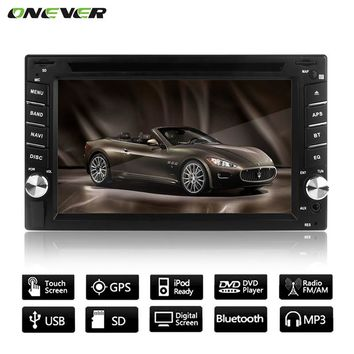 """6.2"""" GPS Navigation HD Car CD DVD Player Touch Screen Radio Stereo Bluetooth MP3 MP4 MP5 USB SD Rearview Camera in Dash  + Camer"""