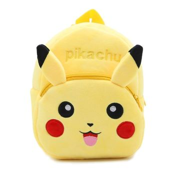 Soft Nap Pikachu Backpack  Baby Bag School Shoulder Bag Boy Girl Children Teenagers  Pocket Monster Bag BY0060Kawaii Pokemon go  AT_89_9