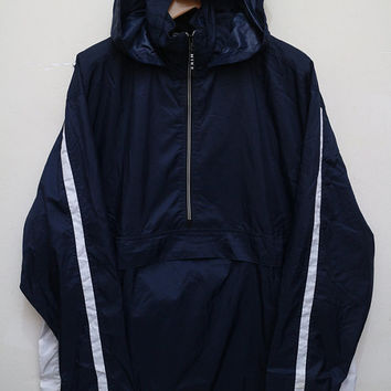 Vintage NIKE Hooded Jacket Windbreaker Blue Color Size XL