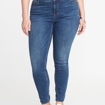 Smooth & Slim High-Rise Plus-Size Rockstar Jeans|old-navy