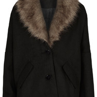 **Fur Collar Coat by Oh My Love - Topshop