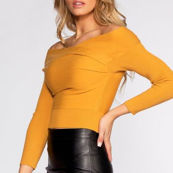 Wrapped In Love Sweater - Mustard