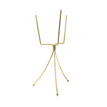 Vintage tripod plant stand gold metal stand planter stand MOD Retro Mid Century Home Decor Fold Up Collapsable Louanne's Estate Sale