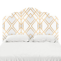 Golden Geo Headboard Decal