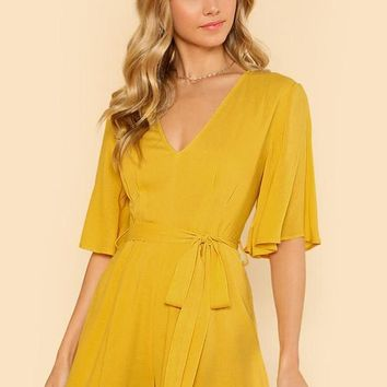 Flowy Yellow Romper