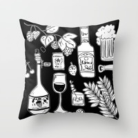 Alcohol Doodles Throw Pillow by Shashira Handmaker