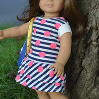 American Girl Doll Clothes, 18 in doll clothes- Ruffle Dress - Edit Listing - Etsy