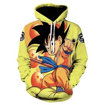 Devin Du Brand Dragon Ball Z Hoodies Kid Goku Clothing Gum Cloud Sweat shirt Hoodie 3d hoodies Sweatshirts Male Men Hood Anime