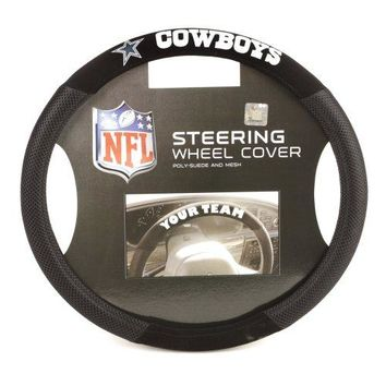Dallas Cowboys OR Houston Texans: Poly-Suede Steering Wheel Cover