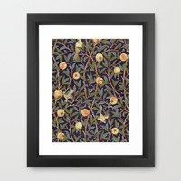 William Morris Bird And Pomegranate Framed Art Print by Art Gallery | Society6