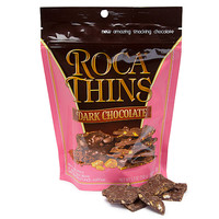 Roca Thins Buttercrunch Toffee Candy - Dark Chocolate: 5.3-Ounce Bag