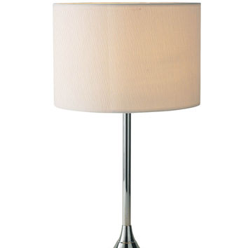 Delta Table Lamp Chrome complete with Ivory Woven Shade