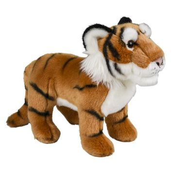 "Standing 12"" Stuffed Tiger Plush Floppy Animal Kingdom Collection"