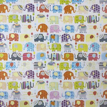 Baby Gift Wrap Wrapping Paper, Elephant Parade (8 Rolls 5ft x 30in)